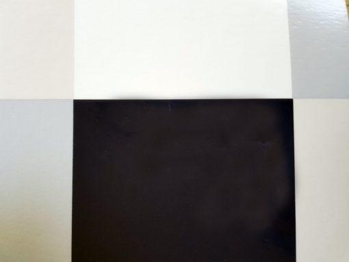פי וי סי דמוי אריח מרובעים שחור לבן