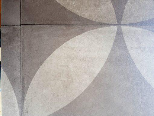 פי וי סי וינטאג' דגם פרח אפור